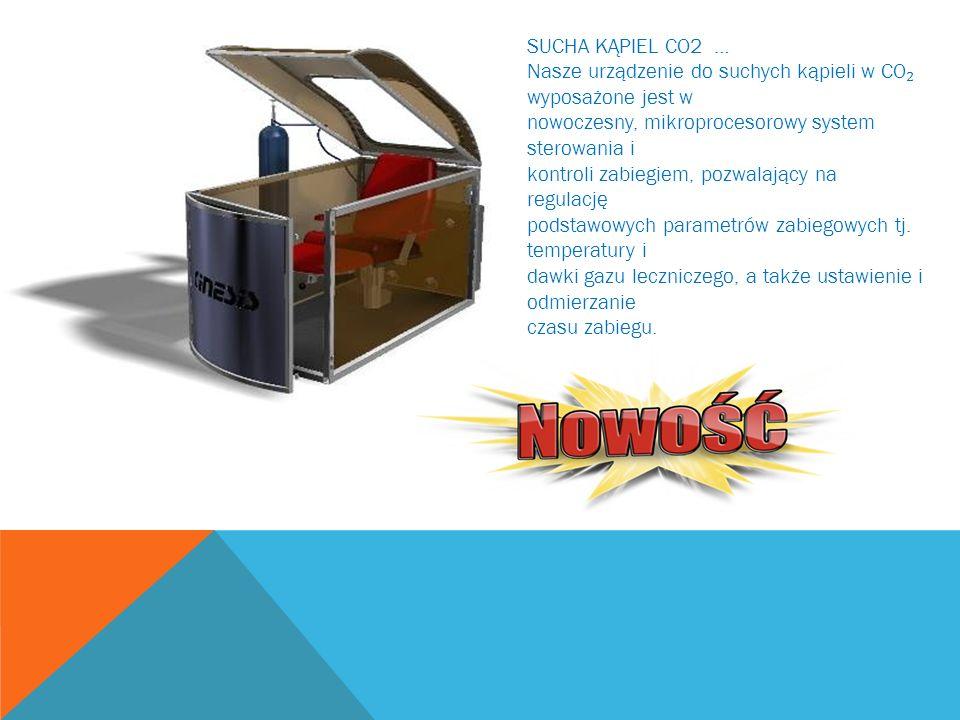 SUCHA KĄPIEL CO2 … Nasze urządzenie do suchych kąpieli w CO wyposażone jest w nowoczesny, mikroprocesorowy system sterowania i kontroli zabiegiem, poz