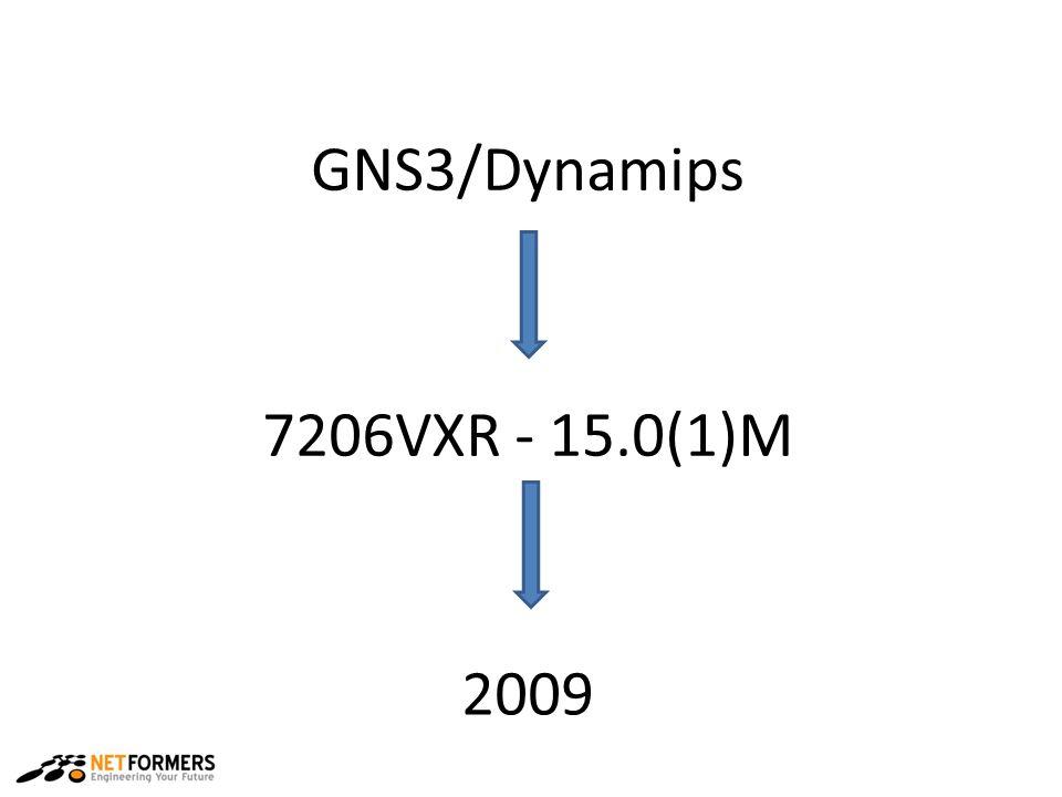 7206VXR - 15.0(1)M GNS3/Dynamips 2009