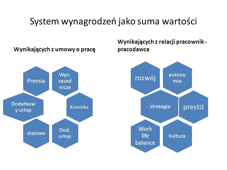 System wynagrodzeń jako suma wartości Wynikających z umowy o pracę Wyn.