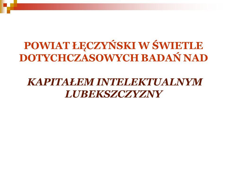 Założenia wstępne strategii innowacji sektory uznane za kluczowe z punktu widzenia rozwoju powiatu łęczyńskiego