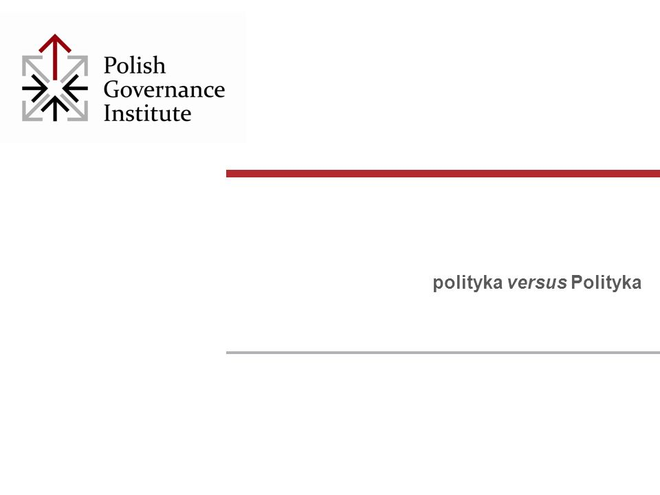 polityka versus Polityka