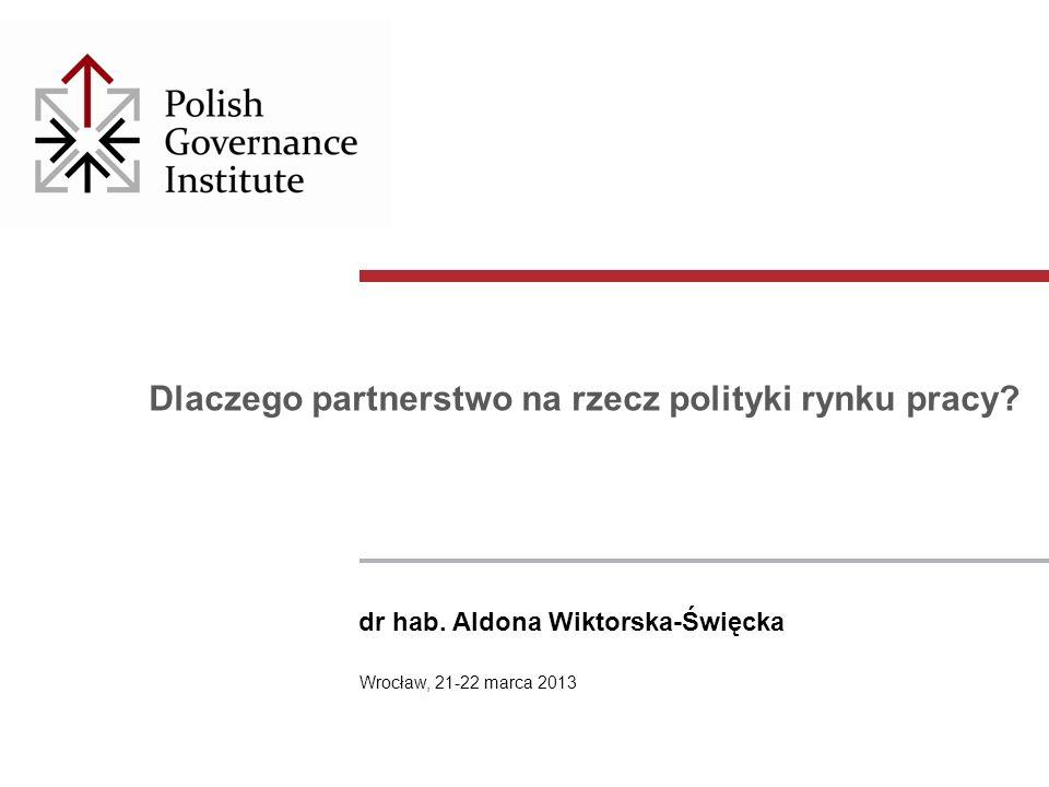 Dlaczego partnerstwo na rzecz polityki rynku pracy.