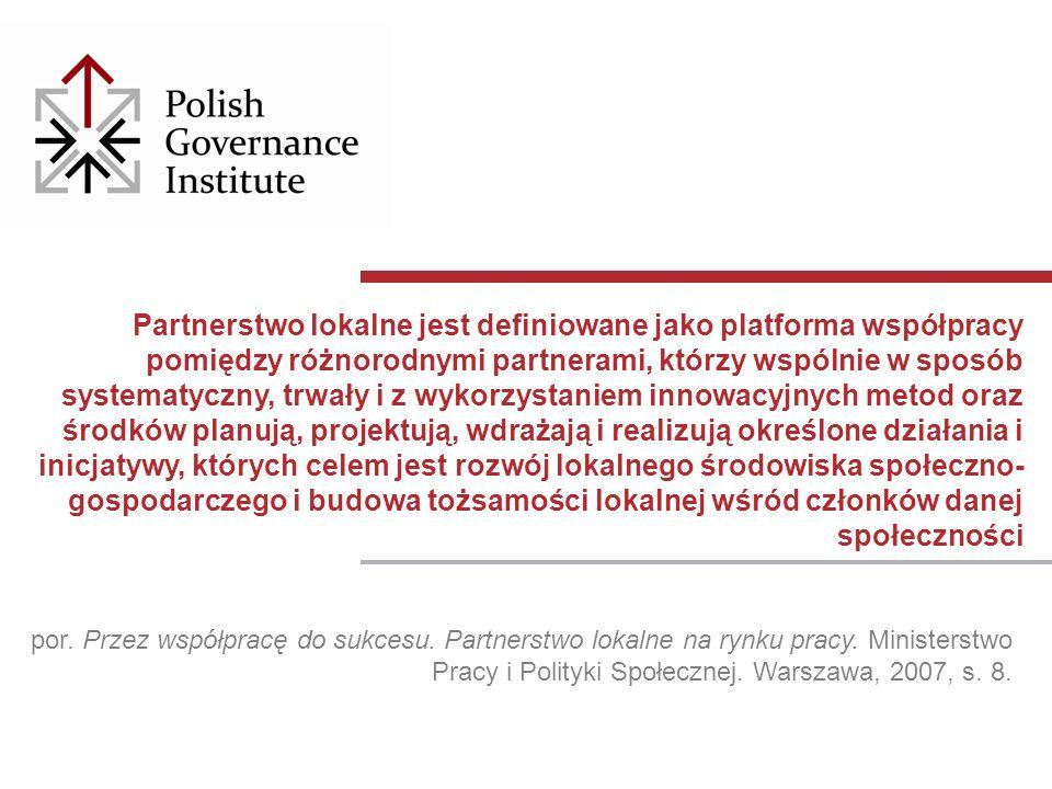 por. Przez współpracę do sukcesu. Partnerstwo lokalne na rynku pracy.
