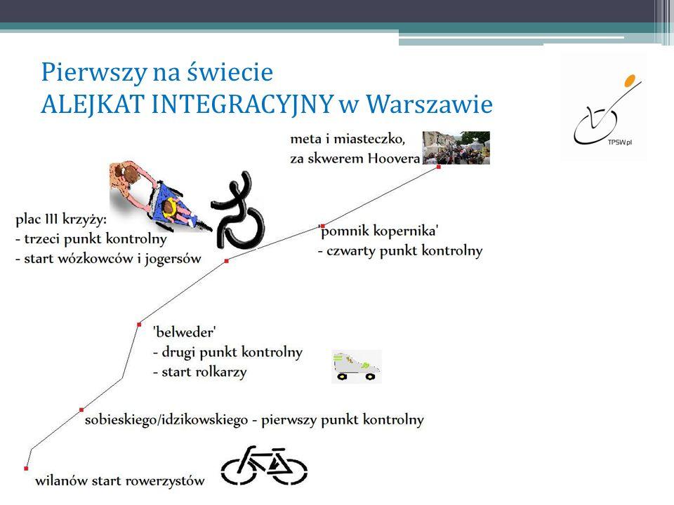 Pierwszy na świecie ALEJKAT INTEGRACYJNY w Warszawie