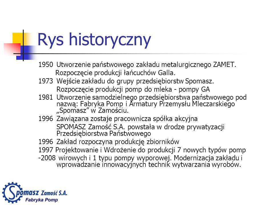 Rys historyczny 1950 Utworzenie państwowego zakładu metalurgicznego ZAMET. Rozpoczęcie produkcji łańcuchów Galla. 1973 Wejście zakładu do grupy przeds