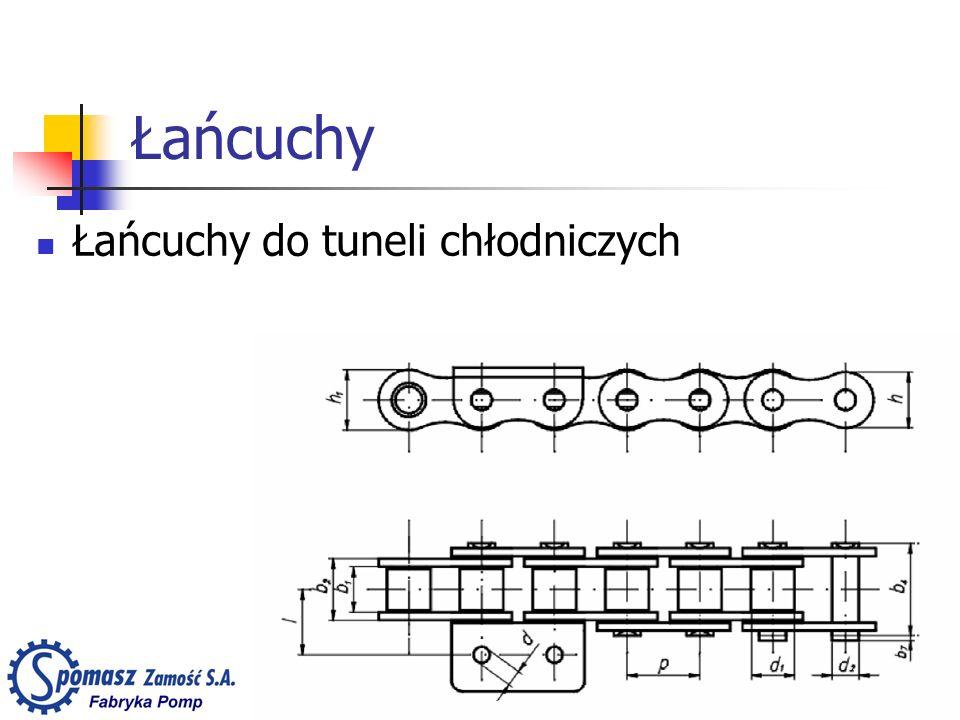 Łańcuchy Łańcuchy do tuneli chłodniczych