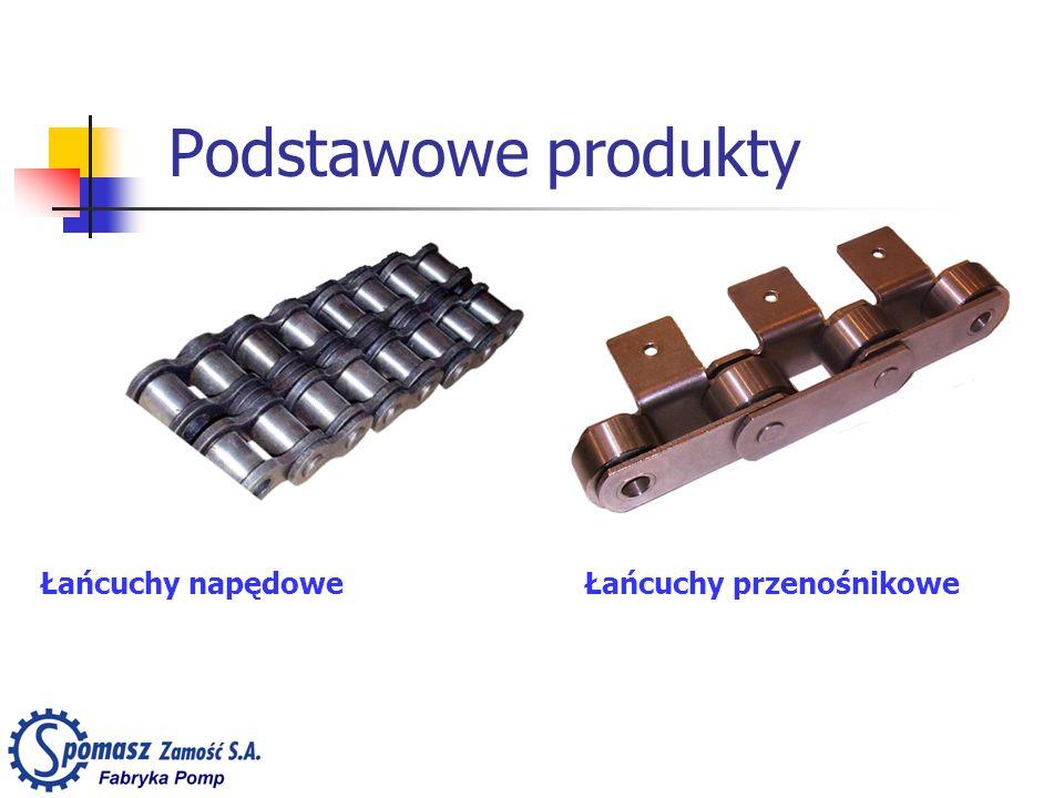 Podstawowe produkty Łańcuchy napędoweŁańcuchy przenośnikowe