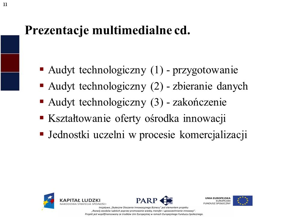 Prezentacje multimedialne cd.