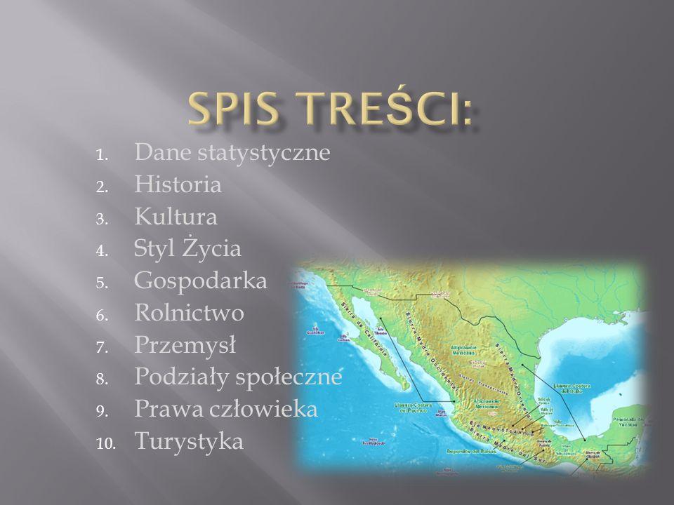 1.Stolica- Meksyk 2. Język urzędowy- hiszpański 3.