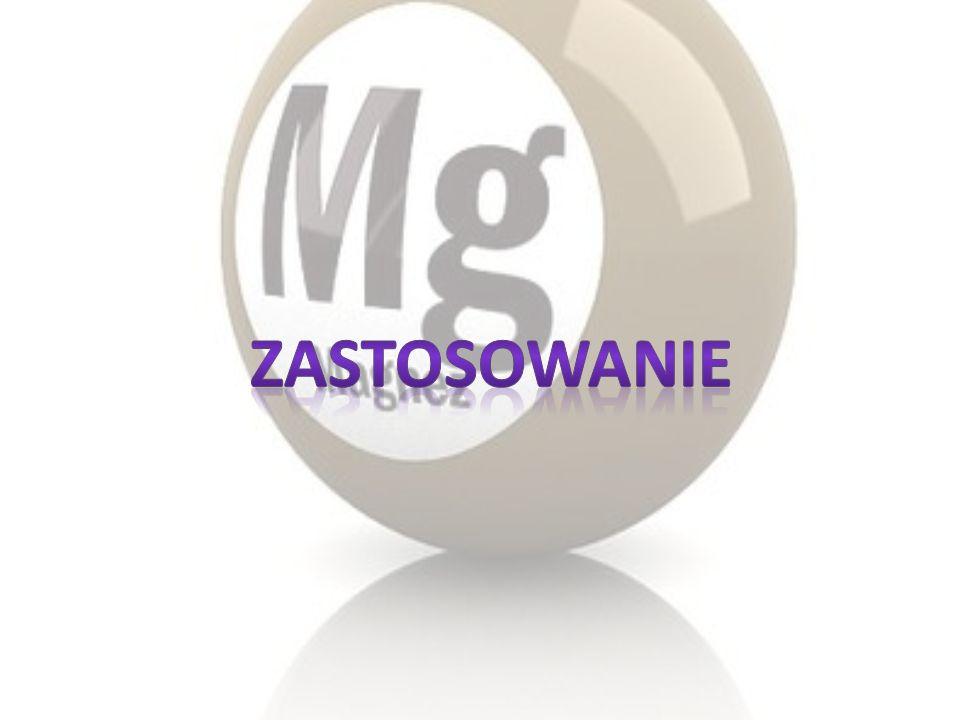 Magnez metaliczny wykorzystuje się w chemii organicznej do otrzymywania związków Grignarda, oraz w postaci prętów do ochrony przed korozją pojemnościowych podgrzewaczy wody, wykonanych ze stali (anoda magnezowa, montowana wewnątrz zbiornika) Stopy magnezu są wykorzystywane w przemyśle lotniczym i kosmicznym, tam gdzie stopy tytanu i glinu są za ciężkie.