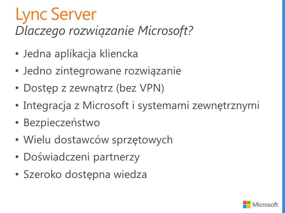 Jedna aplikacja kliencka Jedno zintegrowane rozwiązanie Dostęp z zewnątrz (bez VPN) Integracja z Microsoft i systemami zewnętrznymi Bezpieczeństwo Wie