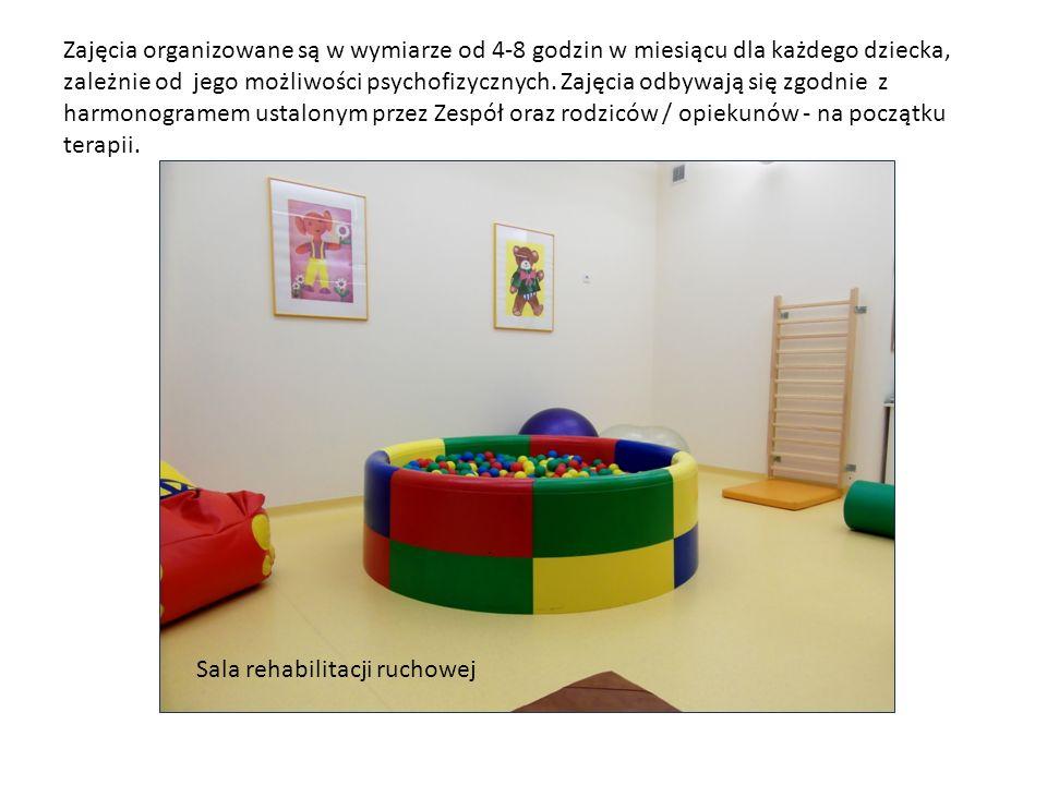 Zajęcia organizowane są w wymiarze od 4-8 godzin w miesiącu dla każdego dziecka, zależnie od jego możliwości psychofizycznych. Zajęcia odbywają się zg