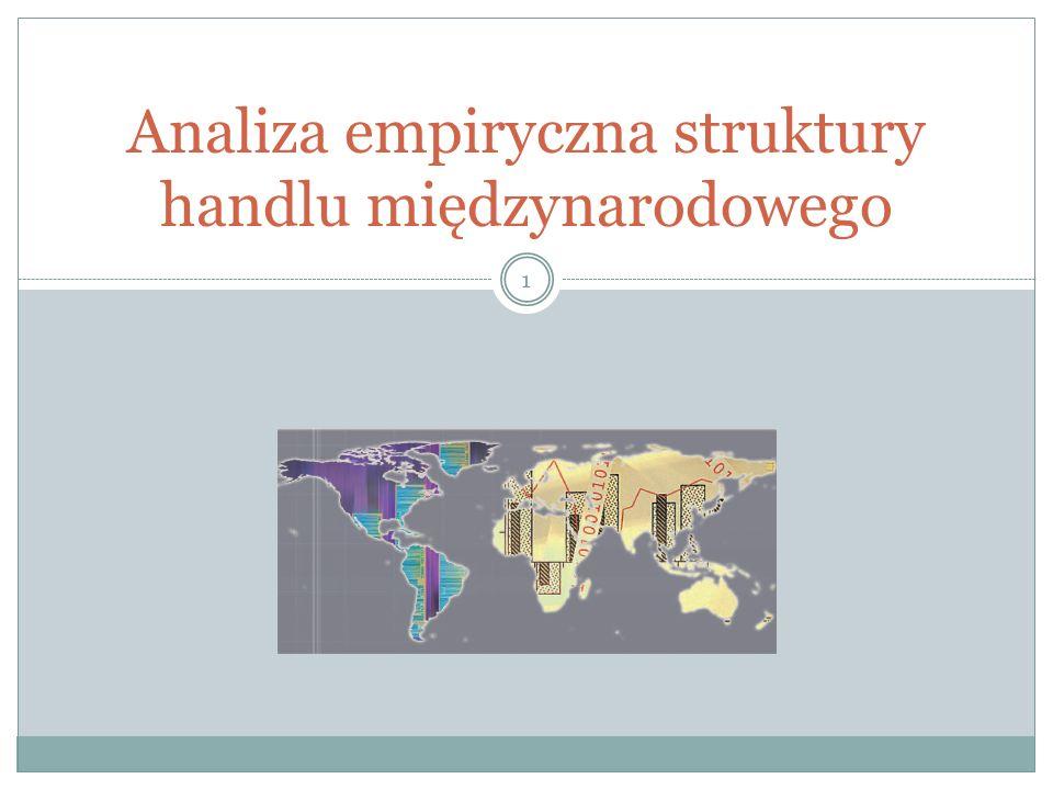 Analiza empiryczna struktury handlu międzynarodowego 1