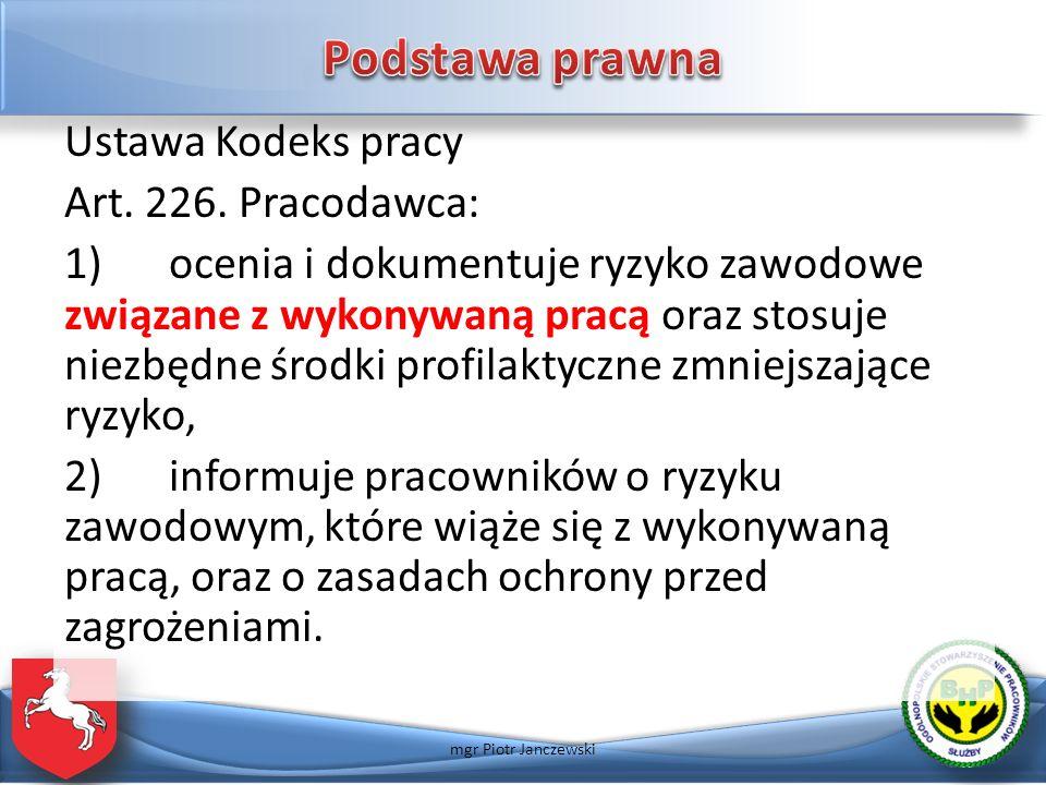 Opracował: mgr Piotr Janczewski janczewskip@wp.pl Tel. 663 207 255