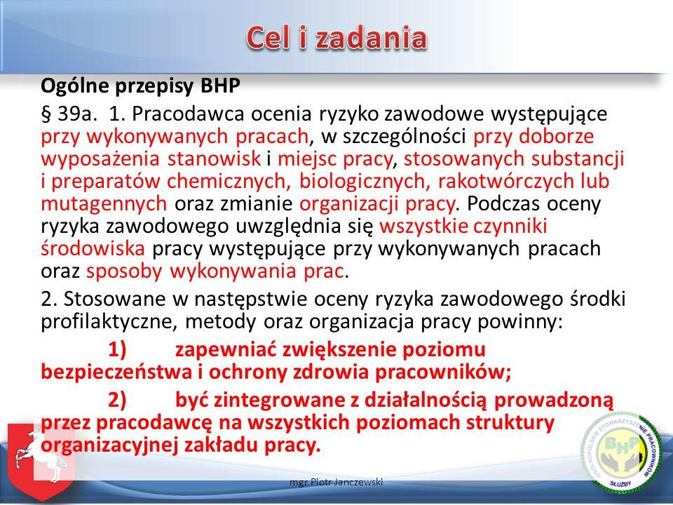 Ogólne przepisy BHP § 39a.3.