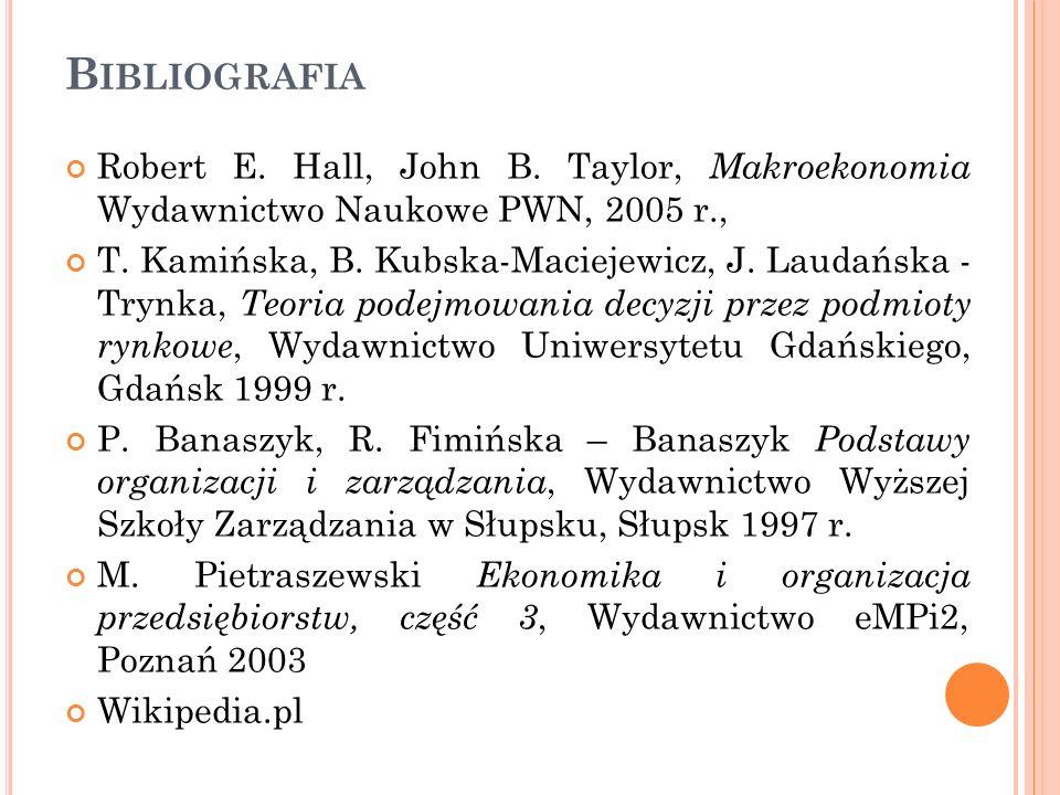 Robert E. Hall, John B. Taylor, Makroekonomia Wydawnictwo Naukowe PWN, 2005 r., T. Kamińska, B. Kubska-Maciejewicz, J. Laudańska - Trynka, Teoria pode