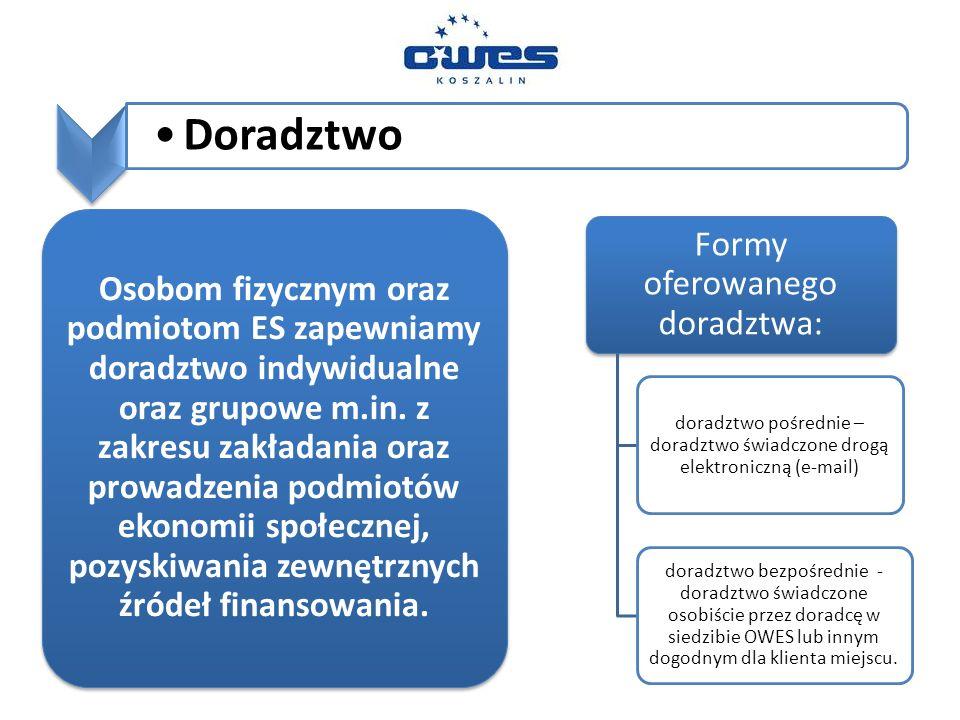 Doradztwo Osobom fizycznym oraz podmiotom ES zapewniamy doradztwo indywidualne oraz grupowe m.in.