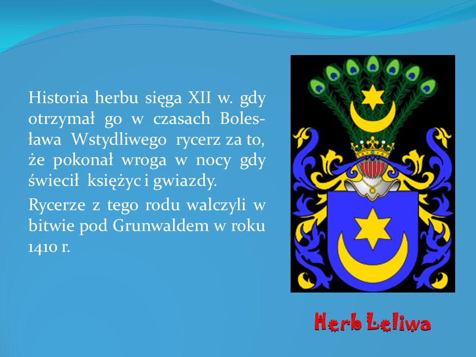 Historia herbu sięga XII w. gdy otrzymał go w czasach Boles- ława Wstydliwego rycerz za to, że pokonał wroga w nocy gdy świecił księżyc i gwiazdy. Ryc