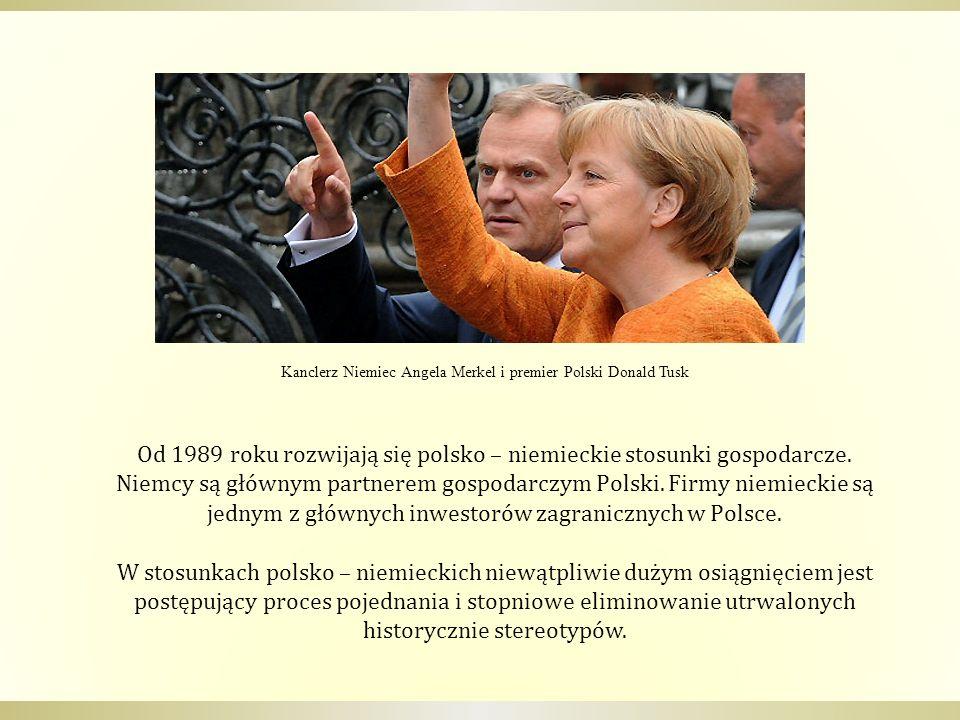 Od 1989 roku rozwijają się polsko – niemieckie stosunki gospodarcze. Niemcy są głównym partnerem gospodarczym Polski. Firmy niemieckie są jednym z głó