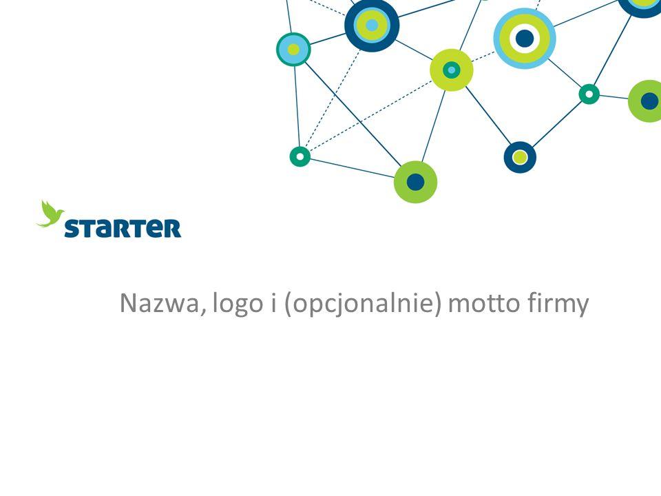 Nazwa, logo i (opcjonalnie) motto firmy