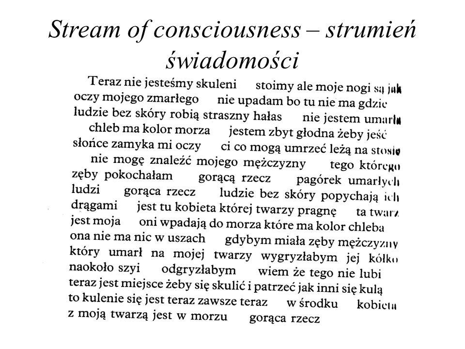 Stream of consciousness – strumień świadomości