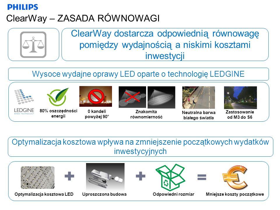 ClearWay – ZASADA RÓWNOWAGI ClearWay dostarcza odpowiednią równowagę pomiędzy wydajnością a niskimi kosztami inwestycji 80% oszczędności energii 0 kan