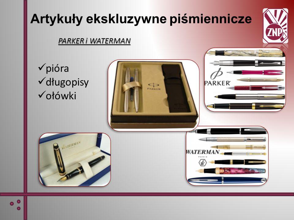 Artykuły ekskluzywne piśmiennicze PARKER i WATERMAN pióra długopisy ołówki