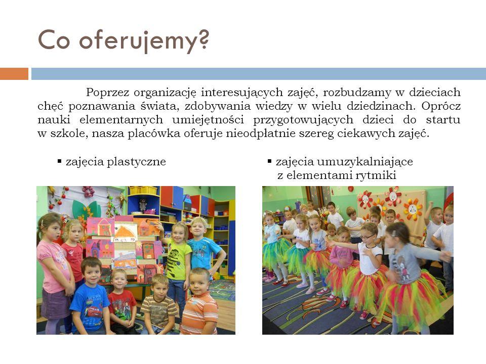 Co oferujemy? Poprzez organizację interesujących zajęć, rozbudzamy w dzieciach chęć poznawania świata, zdobywania wiedzy w wielu dziedzinach. Oprócz n