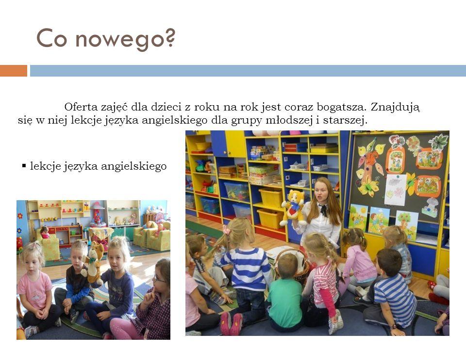 Co nowego? Oferta zajęć dla dzieci z roku na rok jest coraz bogatsza. Znajdują się w niej lekcje języka angielskiego dla grupy młodszej i starszej. le