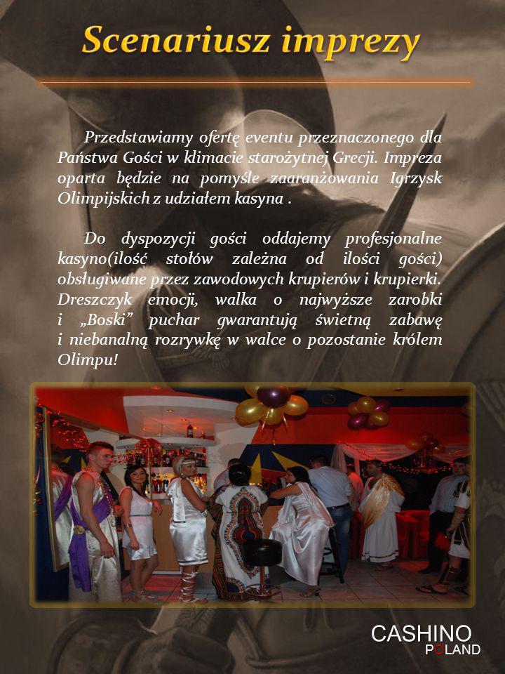 Przedstawiamy ofertę eventu przeznaczonego dla Państwa Gości w klimacie starożytnej Grecji. Impreza oparta będzie na pomyśle zaaranżowania Igrzysk Oli