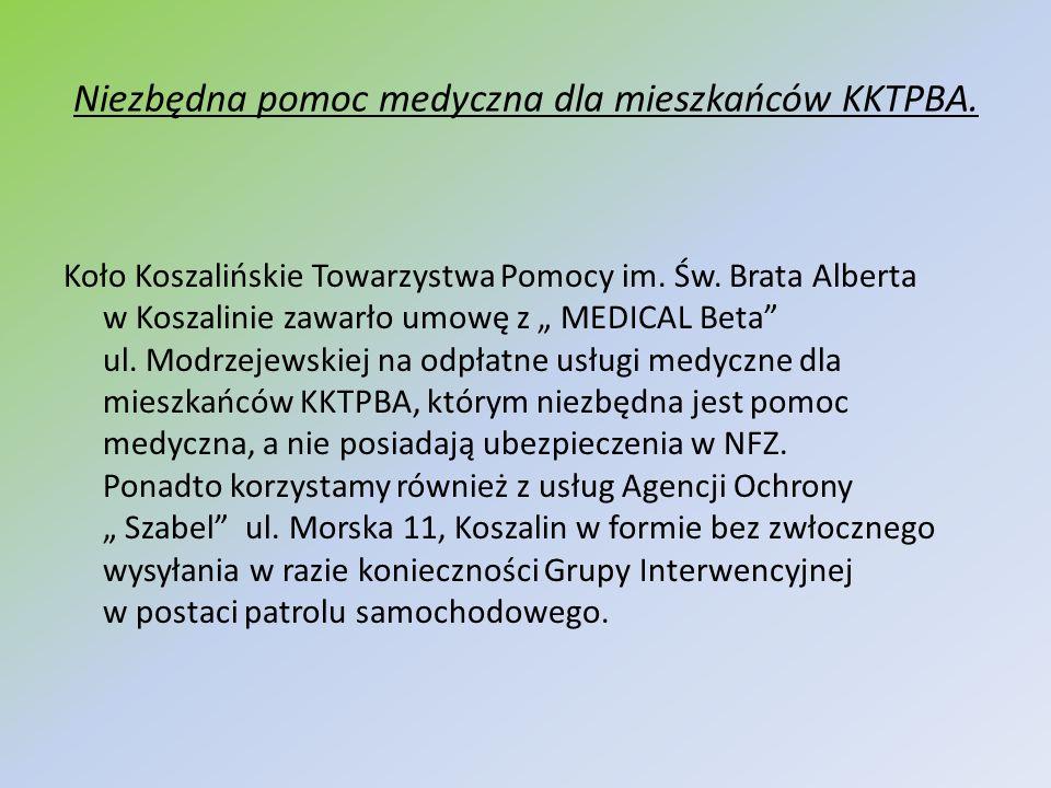 Niezbędna pomoc medyczna dla mieszkańców KKTPBA. Koło Koszalińskie Towarzystwa Pomocy im. Św. Brata Alberta w Koszalinie zawarło umowę z MEDICAL Beta