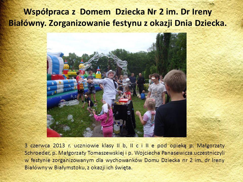 3 czerwca 2013 r. uczniowie klasy II b, II c i II e pod opieką p. Małgorzaty Schroeder, p. Małgorzaty Tomaszewskiej i p. Wojciecha Panasewicza uczestn