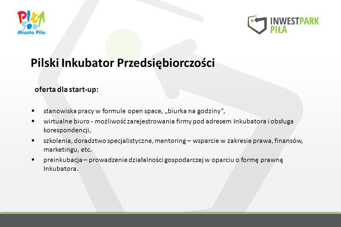oferta dla start-up: stanowiska pracy w formule open space, biurka na godziny, wirtualne biuro - możliwość zarejestrowania firmy pod adresem Inkubator