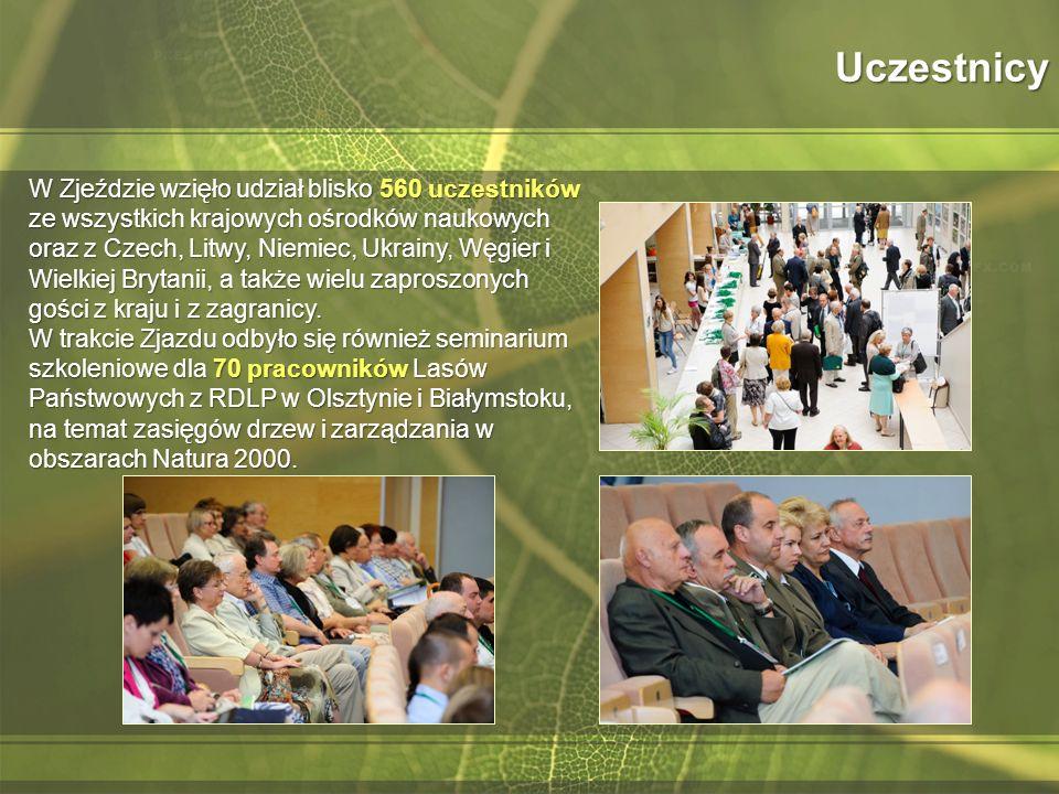 Uczestnicy W Zjeździe wzięło udział blisko 560 uczestników ze wszystkich krajowych ośrodków naukowych oraz z Czech, Litwy, Niemiec, Ukrainy, Węgier i