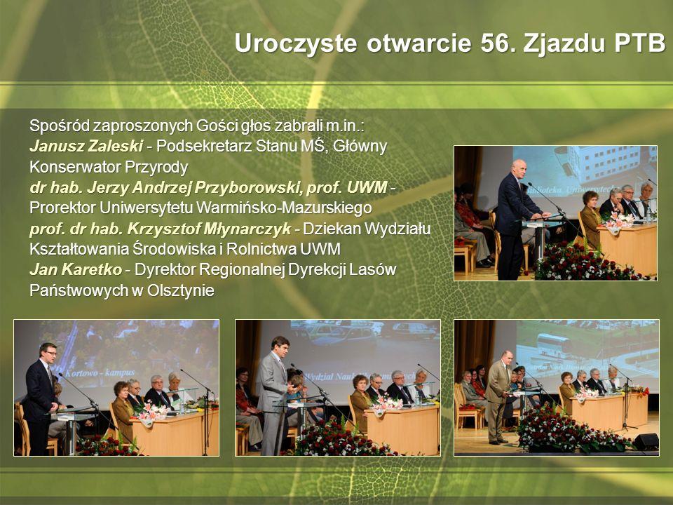 Skład wybranego Zarządu Głównego PTB Prezydium Prezes dr hab.