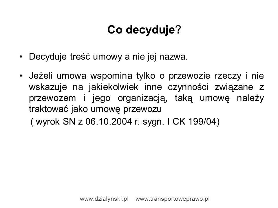 Decyzje zakładów ubezpieczeń Spedycja sp.z o.o.