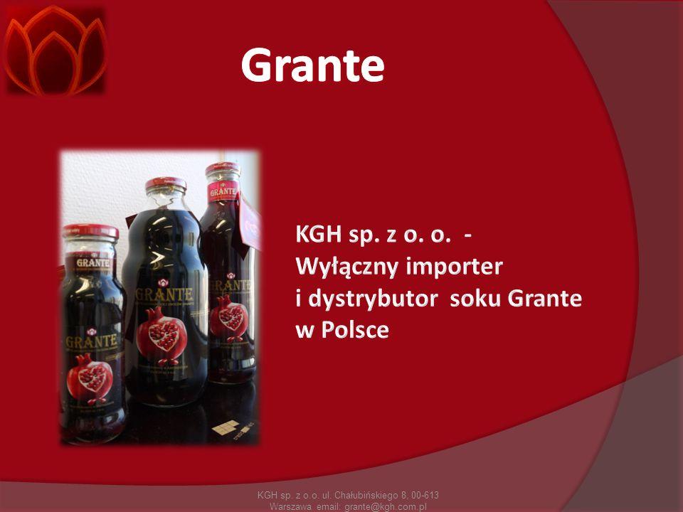 KGH sp. z o.o. ul. Chałubińskiego 8, 00-613 Warszawa email: grante@kgh.com.pl