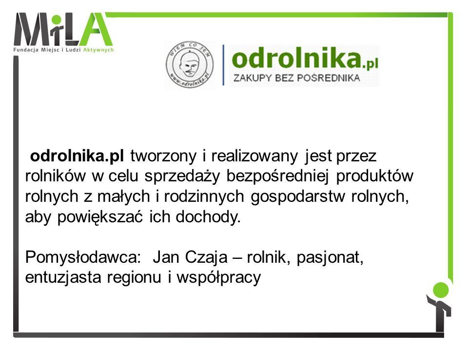 odrolnika.pl tworzony i realizowany jest przez rolników w celu sprzedaży bezpośredniej produktów rolnych z małych i rodzinnych gospodarstw rolnych, ab