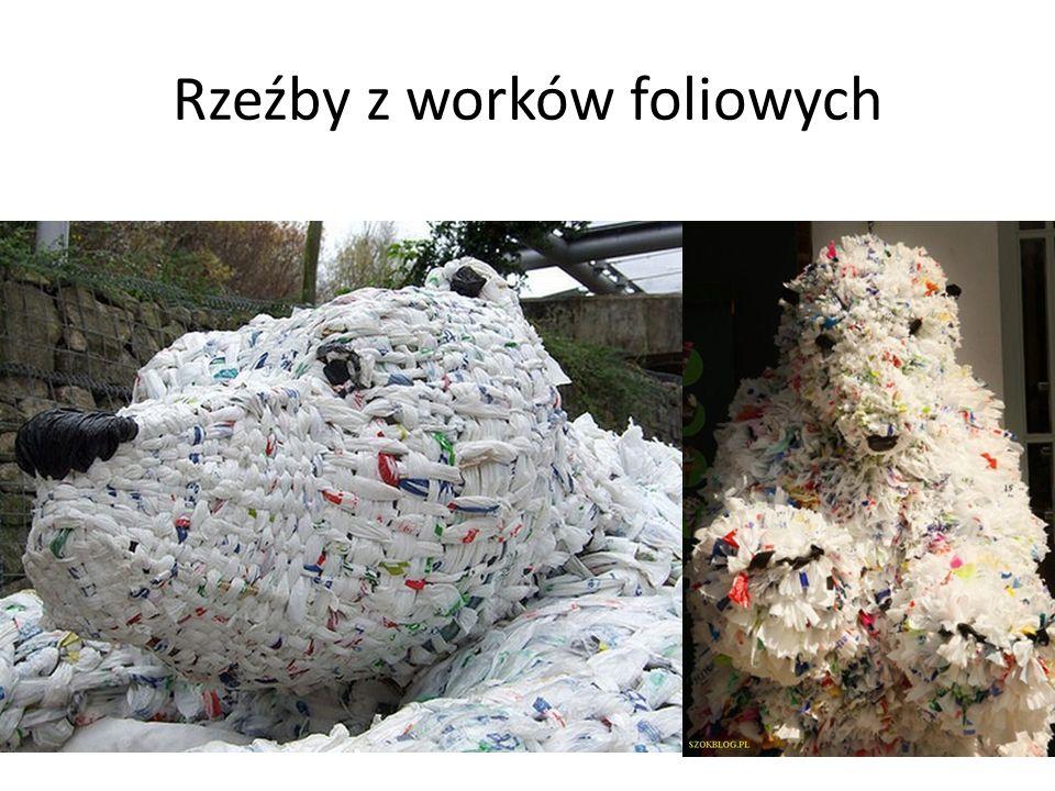 Rzeźba z prasowanych butelek plastikowych Park w Szczecinie, Wysokość rzeźby: 6m