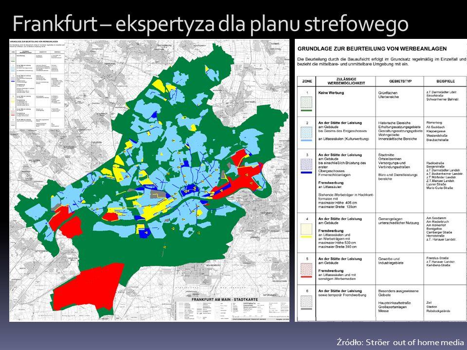 Frankfurt – ekspertyza dla planu strefowego Źródło: Ströer out of home media