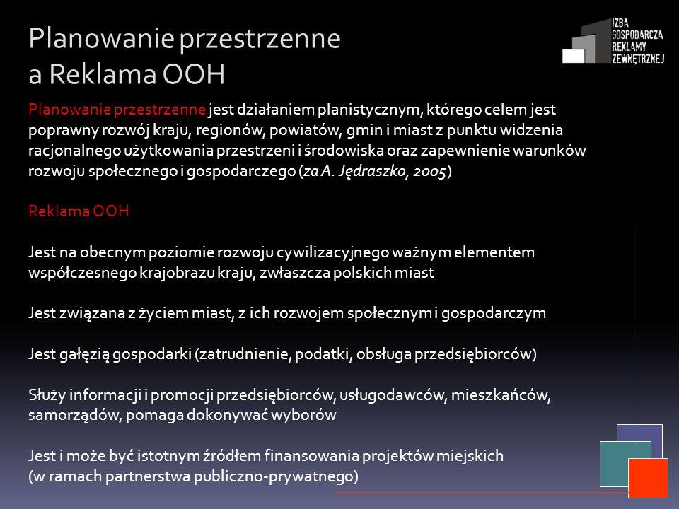 Planowanie przestrzenne a Reklama OOH Planowanie przestrzenne jest działaniem planistycznym, którego celem jest poprawny rozwój kraju, regionów, powia