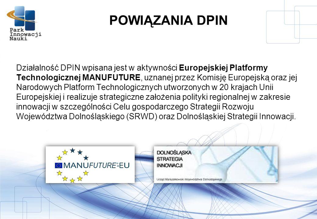 Działalność DPIN wpisana jest w aktywności Europejskiej Platformy Technologicznej MANUFUTURE, uznanej przez Komisję Europejską oraz jej Narodowych Platform Technologicznych utworzonych w 20 krajach Unii Europejskiej i realizuje strategiczne założenia polityki regionalnej w zakresie innowacji w szczególności Celu gospodarczego Strategii Rozwoju Województwa Dolnośląskiego (SRWD) oraz Dolnośląskiej Strategii Innowacji.