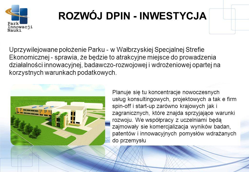 Uprzywilejowane położenie Parku - w Wałbrzyskiej Specjalnej Strefie Ekonomicznej - sprawia, że będzie to atrakcyjne miejsce do prowadzenia działalności innowacyjnej, badawczo-rozwojowej i wdrożeniowej opartej na korzystnych warunkach podatkowych.