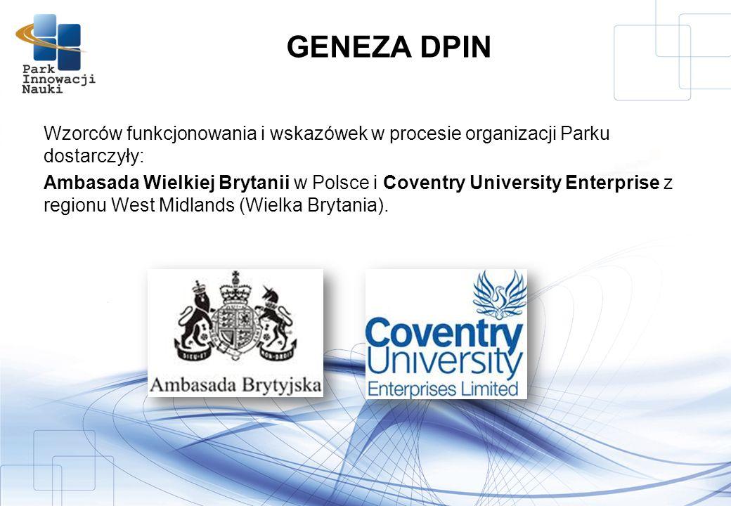 Wzorców funkcjonowania i wskazówek w procesie organizacji Parku dostarczyły: Ambasada Wielkiej Brytanii w Polsce i Coventry University Enterprise z regionu West Midlands (Wielka Brytania).