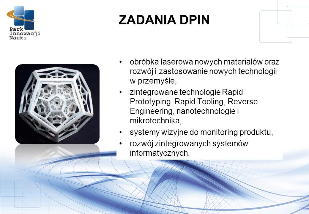 obróbka laserowa nowych materiałów oraz rozwój i zastosowanie nowych technologii w przemyśle, zintegrowane technologie Rapid Prototyping, Rapid Tooling, Reverse Engineering, nanotechnologie i mikrotechnika, systemy wizyjne do monitoring produktu, rozwój zintegrowanych systemów informatycznych.