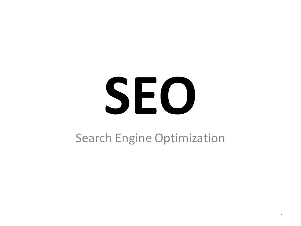 SEO Search Engine Optimization 1