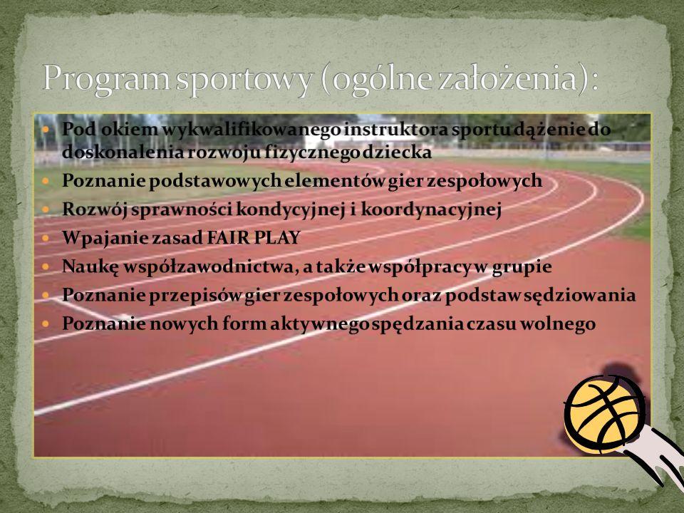 Głównym cel naszego obozu to aktywny wypoczynek zawodników poprzez udział w nowych formach aktywności sportowej.