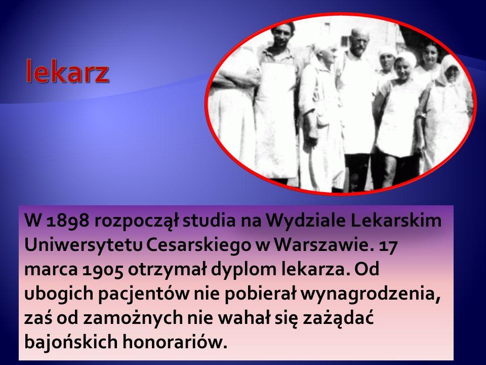 Janusz Korczak, właściwie Henryk Goldszmit, znany również jako: Stary Doktor lub Pan Doktor. Ur. 22 lipca 1878 w Warszawie, zm. około 6 sierpnia 1942
