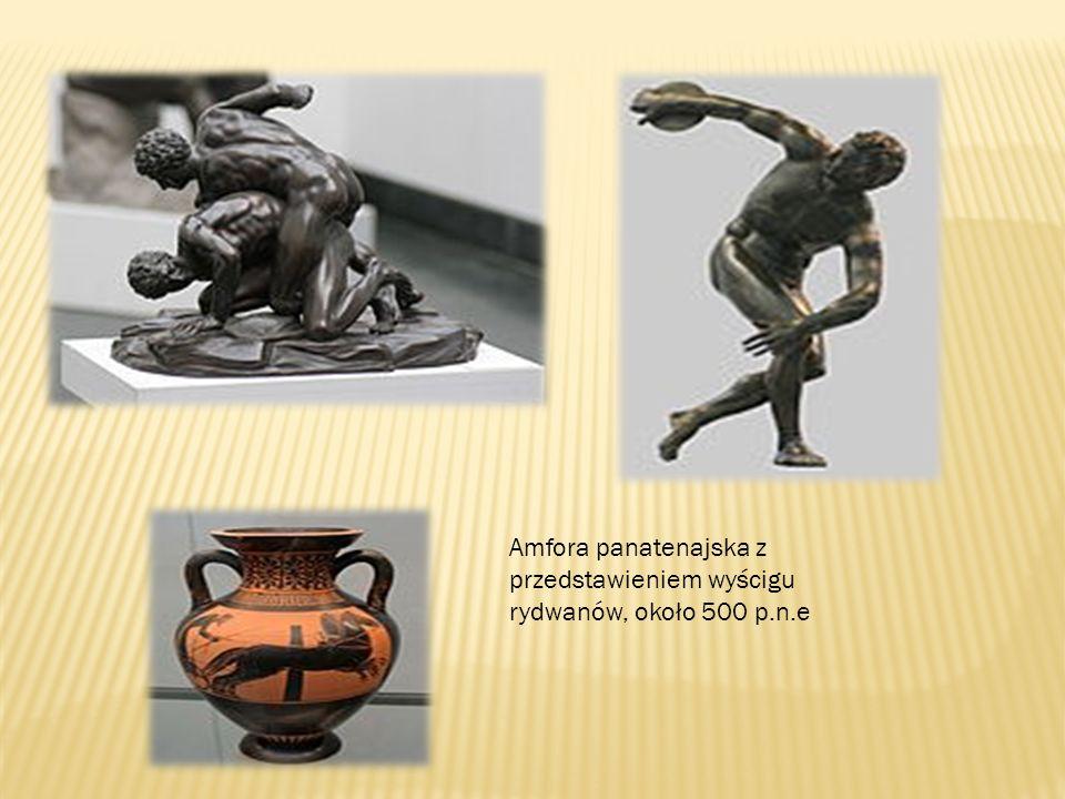 Amfora panatenajska z przedstawieniem wyścigu rydwanów, około 500 p.n.e