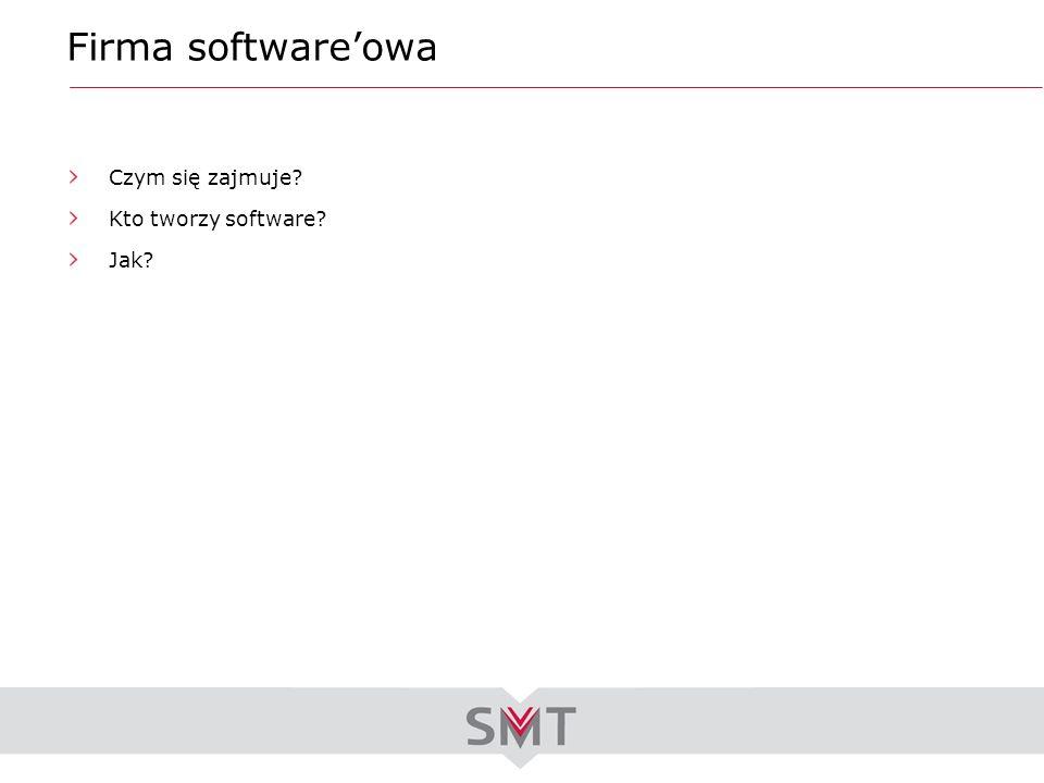 Firma softwareowa Czym się zajmuje? Kto tworzy software? Jak?